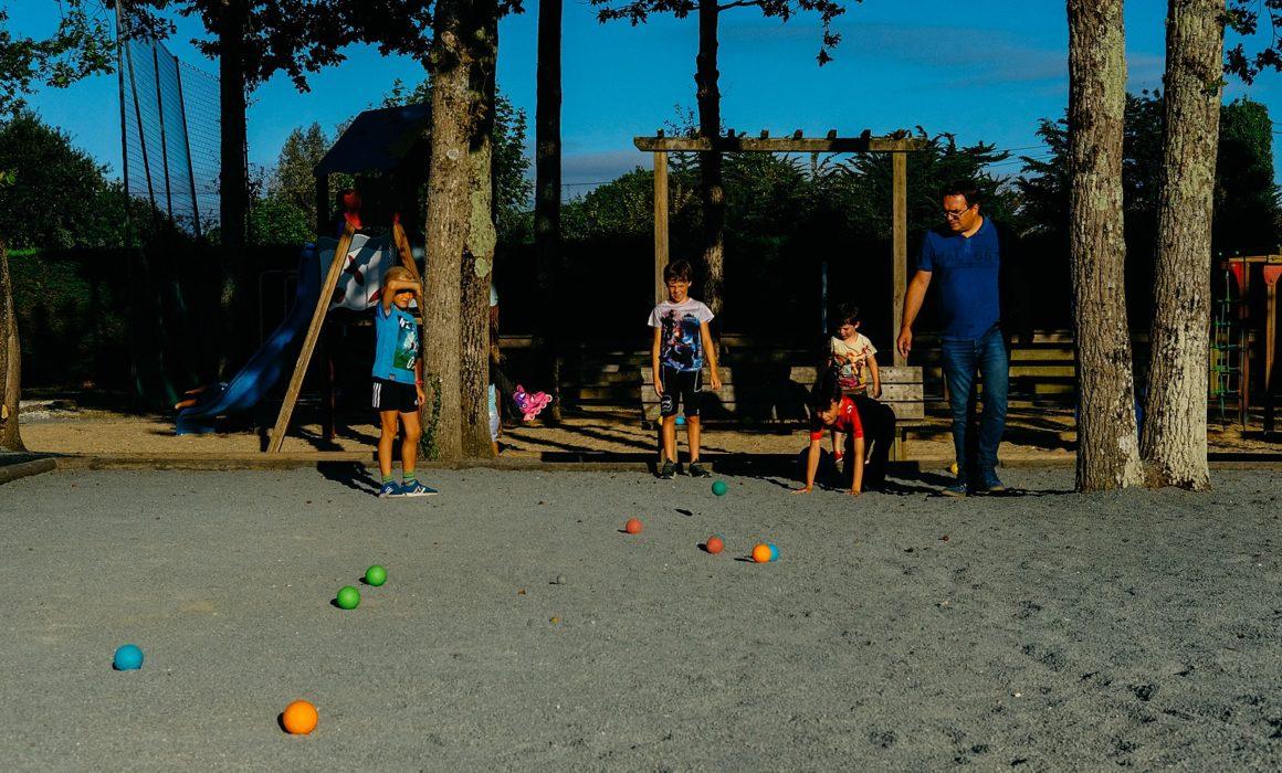 jeu de boules op de camping