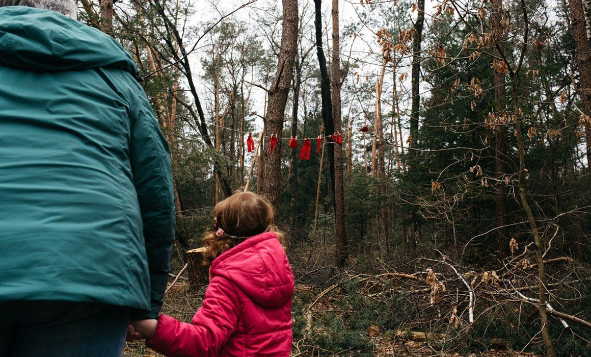 kabouterkleren in het bos