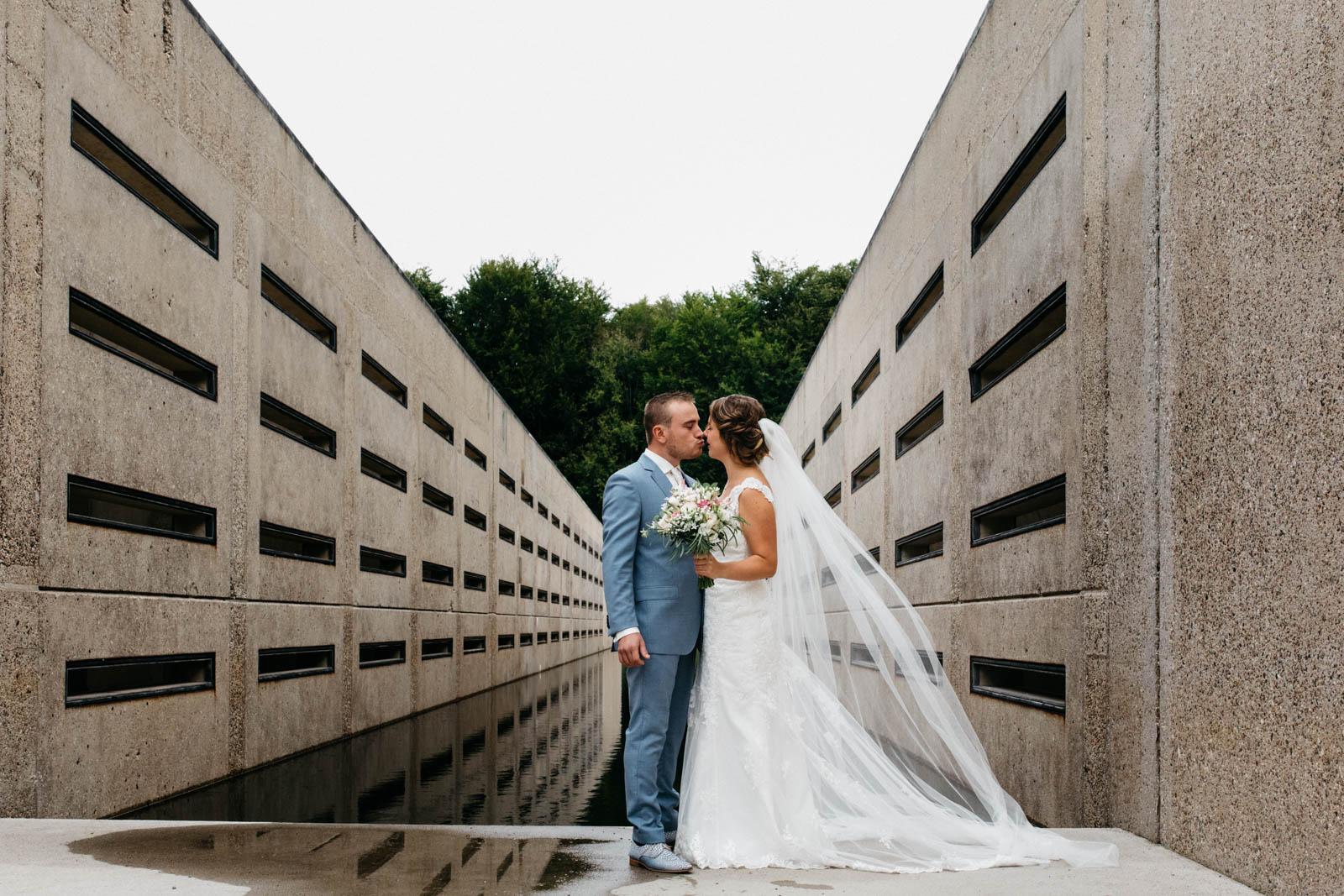 bruidspaar tijdens reportage